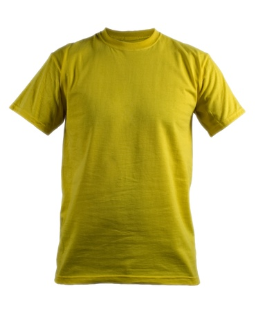 t shirt design: camisa de color amarillo Foto de archivo