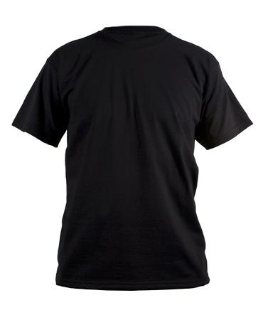 playera negra: Camiseta modelo negro Foto de archivo