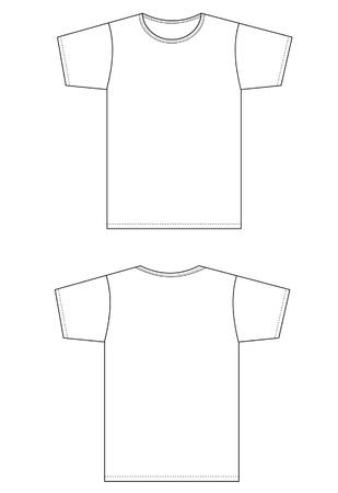 mr: pattern type setting white shirt. Illustration