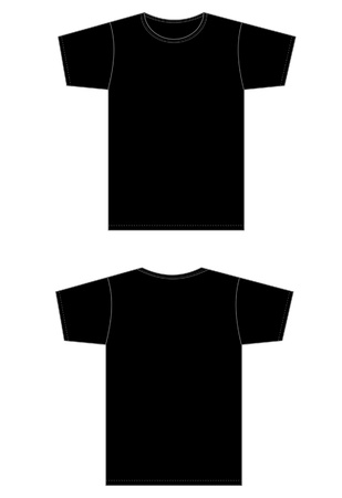 polyester: type of adjustment in the black shirt pattern. Illustration