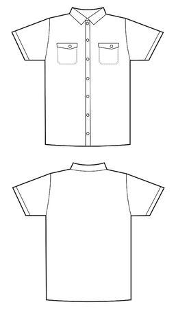 kurz: wei�es Hemd Muster