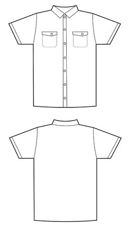 short sleeve: white shirt pattern Illustration