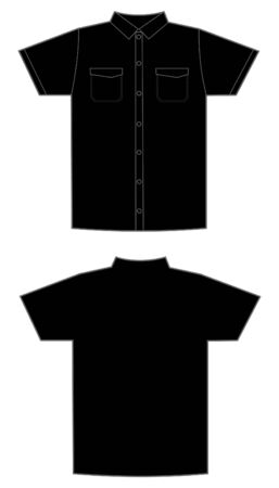polyester: pattern of the black man's shirt Illustration