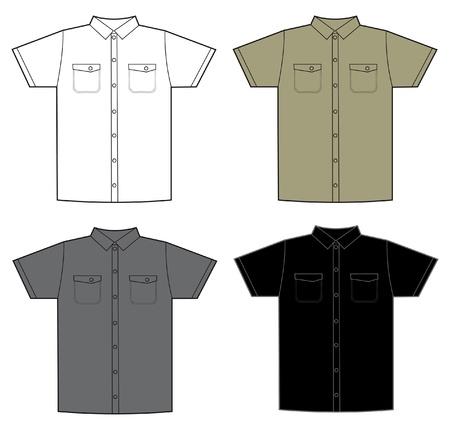 poliester: patr�n de color de camiseta Vectores