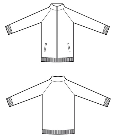 zip sweatshirt man Vector