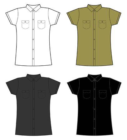 t shirt model: donne Vettoriali