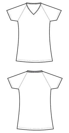 Neck T-shirt women Vector