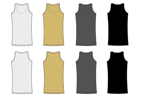 t shirt model: Lunga camicia donna senza spalline