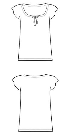 short sleeve: women dress shirt Illustration