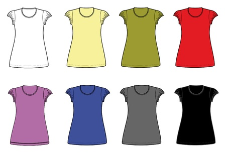 t shirt model: le donne camicia