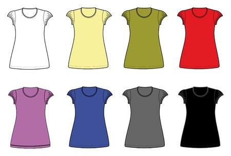 woman white shirt: women dress shirt Illustration