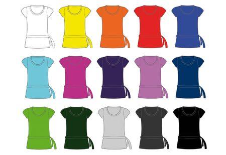 dress shirt: women dress shirt Illustration