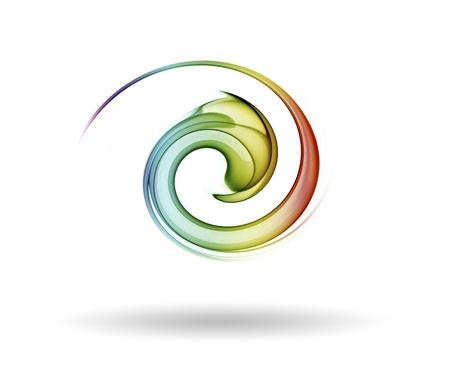 smoke color icon 免版税图像