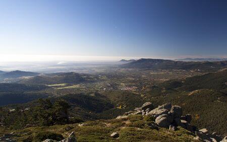 Panoramic view on seven peaks, Sierra de Guadarrama
