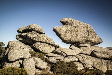 Rocks eroded in seven peaks, Sierra de Guadarrama.