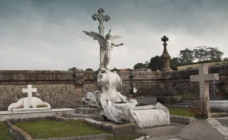 Cemetery of Comillas, Cantabria. spain Stock Photo