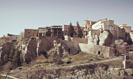 Hanging houses, Cuenca. spain Stock Photo