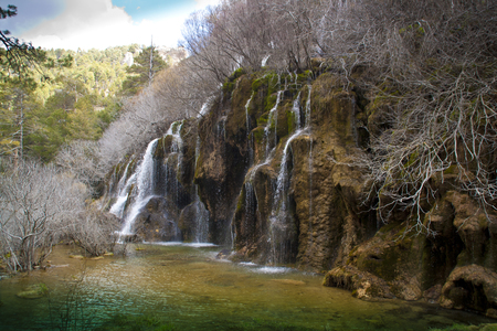 Birth of the River Cuervo, Cuenca. spain Stock Photo