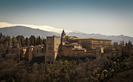 Panoramic view of the Alhambra, Granada. Spain.