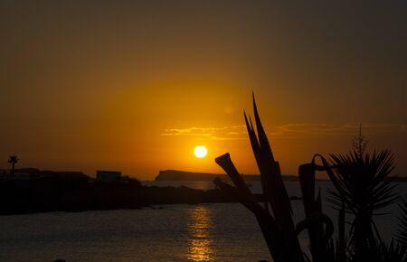 Sunset at Ibiza, Balearic Islands. spain Stock Photo