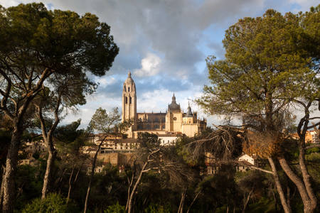 Cathedral of Santa Maria de Segovia in the historic city of Segovia, Castilla y Leon, Spain