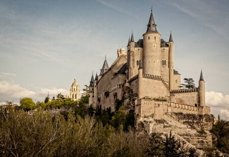 Alcazar de Segovia, World Heritage monument. Old fortress and medieval castle. Point of interest and reference for tourism. In Segovia, Castilla y León, Spain.