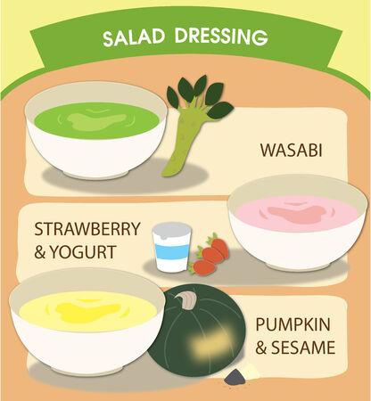 salatdressing: Salatsauce Illustration
