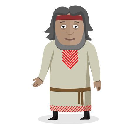 Man in national dress. Slavs. National clothes. Vector illustration. Illusztráció