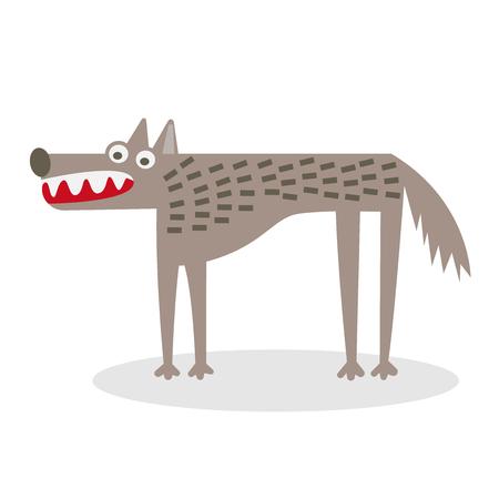 Vector wolf flat illustration. Illusztráció