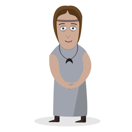 Woman in national dress. Yatvagi. National clothes. Vector illustration.