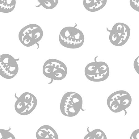 pattern of haloween pumpkins haloween pattern grey vector illustration