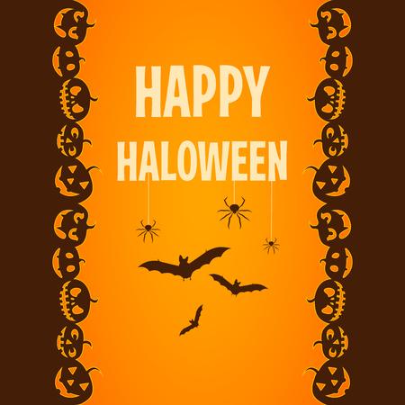 happy halloween poster ticket ector illustration Illusztráció