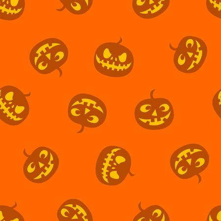 pattern of haloween pumpkins haloween pattern vector illustration Illusztráció
