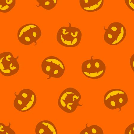 pattern of haloween pumpkins vector illustration