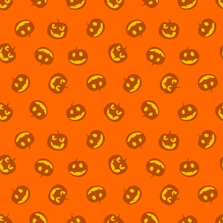 seamless pattern of pumpkins haloween vector illustration