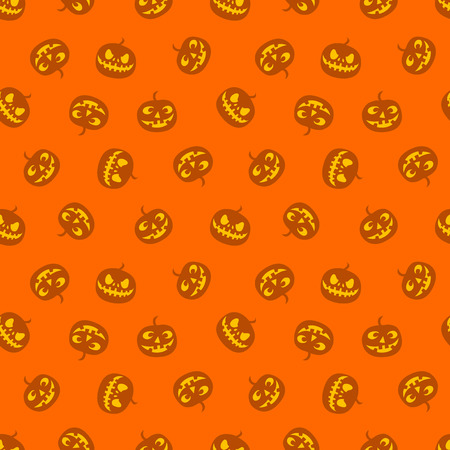 Seamless pattern of pumpkins, haloween. Vector illustration.