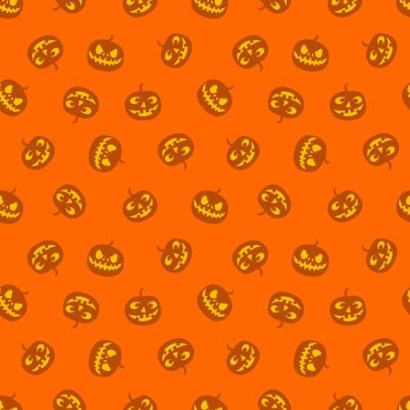 Seamless pattern of pumpkins, haloween. Vector illustration.