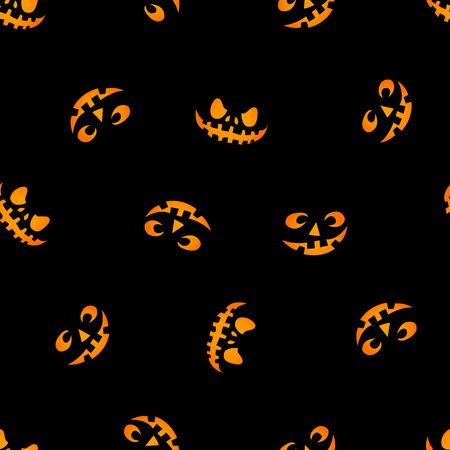 Glowing in the dark eyes vector haloween pattern