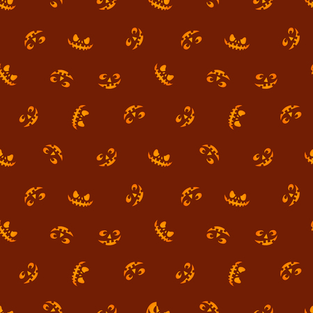 Glowing in the red eyes vector. Haloween seamless pattern.