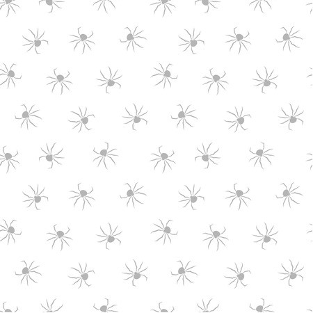 Seamless pattern with spiders. Vector illustration. Halloween background.