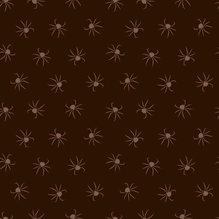 Seamless dark pattern with spiders. Vector illustration. Halloween background. Illusztráció