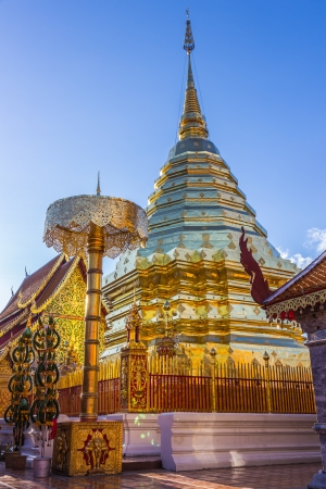 doi: Buddhist Temple of Wat Phrathat Doi Suthep in Chiang Mai, Thailand