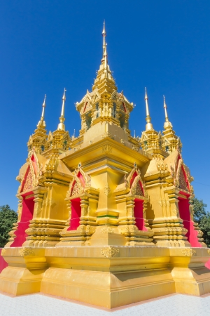 The golden pagoda in Chiang Mai, Thailand Editorial