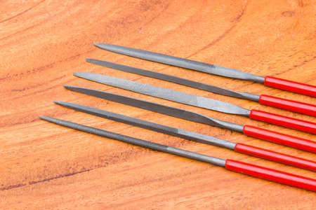 Rasps, files for wood and metal work Stock Photo