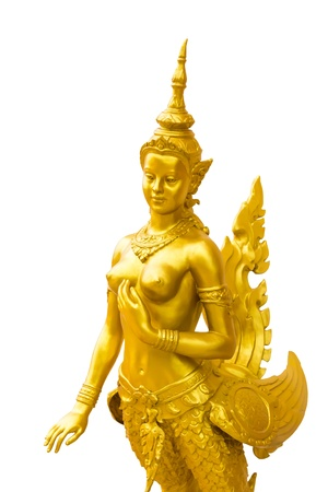 Kinnara isolate in bangkok thailand photo