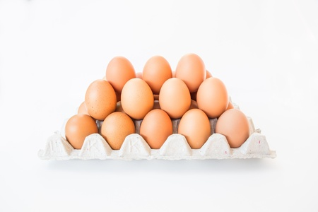 Eggs isolated on a white background.