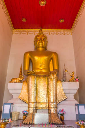 Buddha statue in temple, Thailand Stock Photo