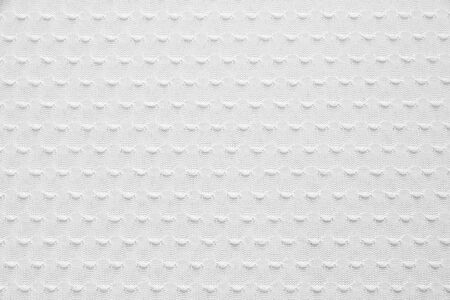 White Knitted Fabric Texture, Background Stock Photo