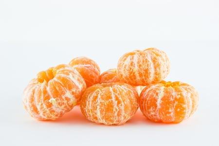 Mandarin orange, Citrus reticulata isolated on white background Stock Photo - 17714838