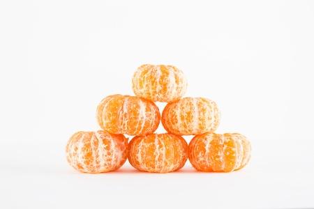 Mandarin orange, Citrus reticulata isolated on white background Stock Photo - 17714823